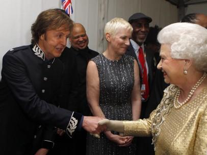 Saludando a Paul McCartney