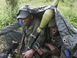 Soldados congoleños