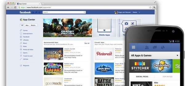Facebook lanza App Center, su propia tienda de aplicaciones, con más de 600 'apps'