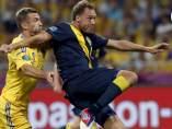 Shevchenko y Granqvist en el Ucrania - Suecia