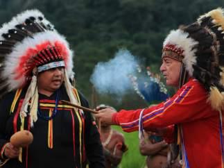 Ceremonia de los indígenas en Brasil para Río+20