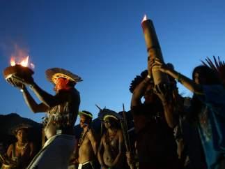 Fuego sagrado en la conferencia Río+20