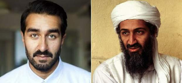 El actor Ricky Sekhon y Bin Laden