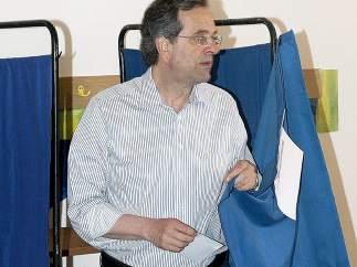 Samaras, líder conservador