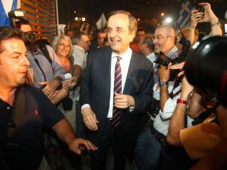 Samaras, l�der de Nueva Democracia se impone en los comicios Griegos