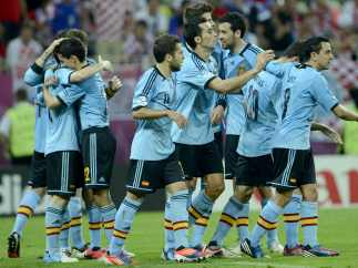 Celebración a lo grande de España