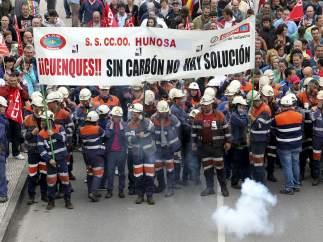 Mineros en huelga