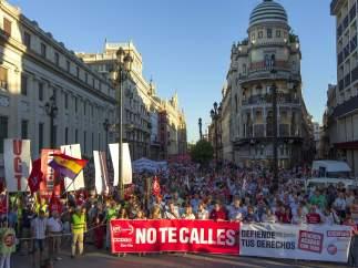Sevilla: una de las 58 manifestaciones del 20-J
