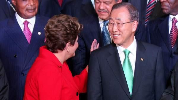Dilma Rousseff y Ban Ki-Moon