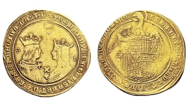 Moneda de la época de los Reyes Católicos
