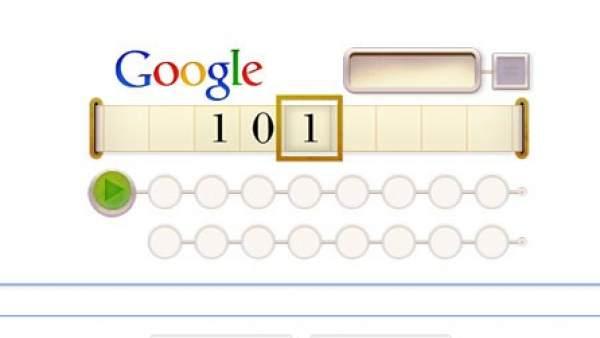 'Doodle' homenaje a Alan Turing