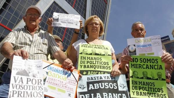 Protestas contra la banca