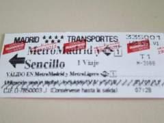 Billete sencillo de metro