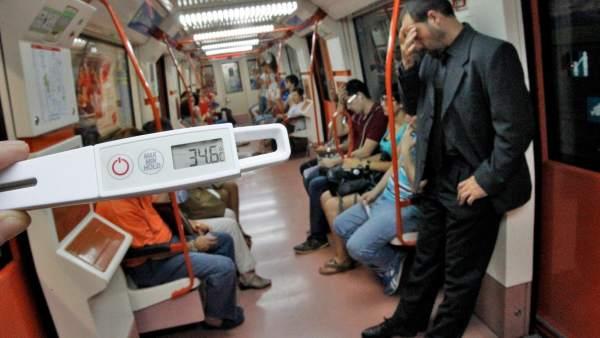 Un vagón de la línea 5 de metro