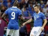 Mario Balotelli y Antonio Cassano