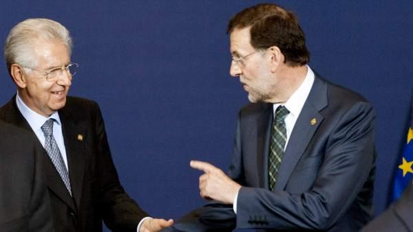 Rajoy y Monti
