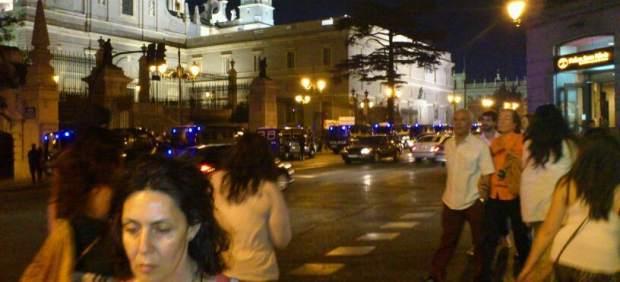 Desalojo de la catedral de La Almudena