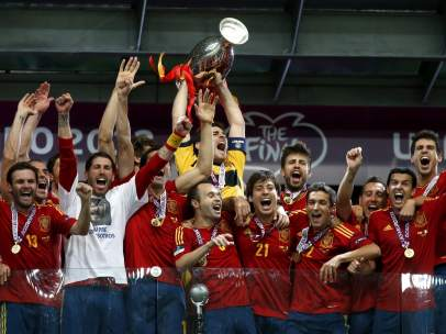 La selección levanta la Eurocopa
