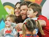Xabi Alonso, con su familia