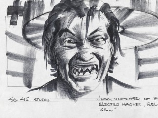 Jaws' teeth sketch from The Spy Who Loved Me