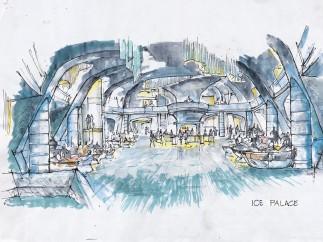 Interior del palacio de hielo