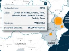 Incendios forestales en España durante 2012