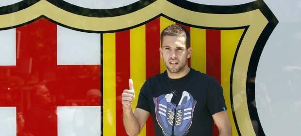 Jordi Alba presentado como jugador del Barça