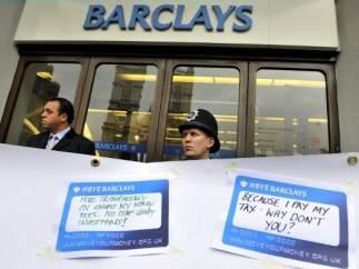 Mensajes contra Barclays