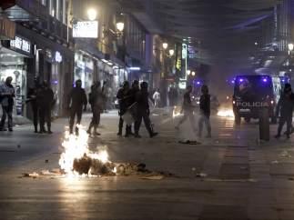 Disturbios en el centro de Madrid