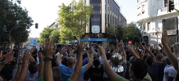 Protesta de los funcionarios en Génova
