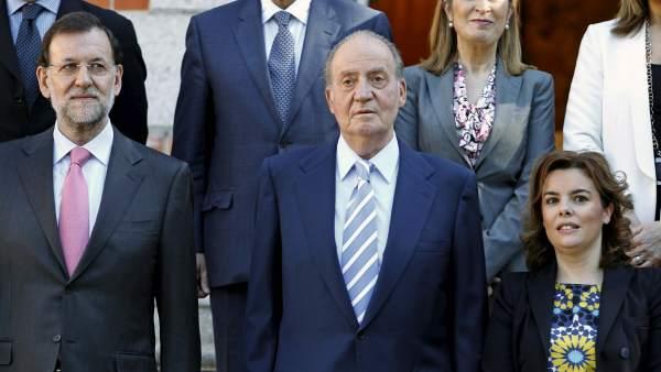 El rey, Rajoy y Soraya