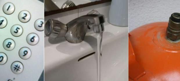 Teléfono, agua, gas