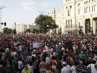 La marcha de Madrid, en Cibeles