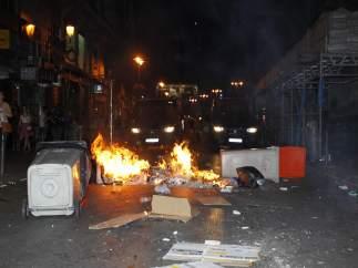 Cubos ardiendo