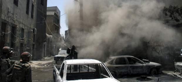 Combates en Damasco