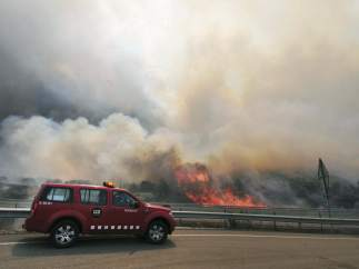 Incendio en La Jonquera