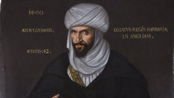 'Portrait of Abd el-Ouahed ben Messaoud ben Mohammed Anoun, ambassador to England from the King of Barbary (Morocco)'