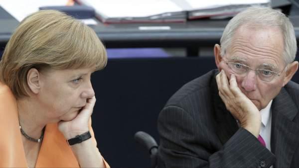 Angela Merkel y Wolfgang Schaeuble