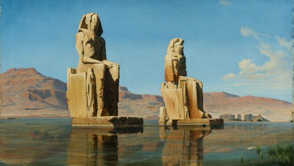 'The Colossi of Memnon During the Annual Flooding'