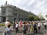 Funcionarios de Educación, en la calle Alcalá