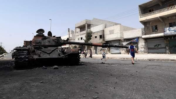 Alepo bombardeada