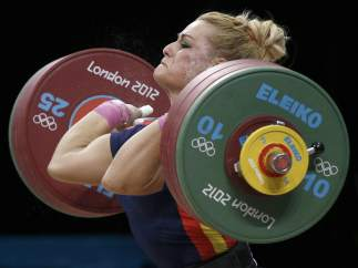 Lidia Valentín, cuarta en halterofilia de 75 kg