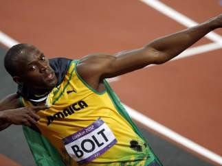 Usain Bolt, oro en 100 metros