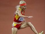 Marta Dom�nguez, en la final de los 3.000 m obst�culos