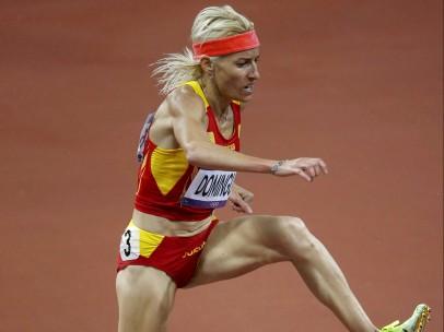 Marta Domínguez, en la final de los 3.000 m obstáculos