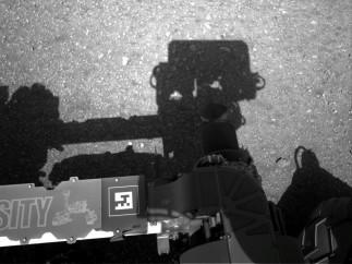La sombra del 'Curiosity'