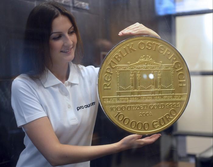 La moneda de oro más grande de Europa
