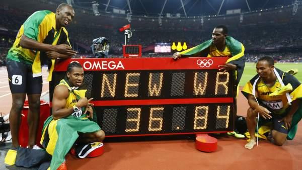 Jamaica, récord mundial en Londres