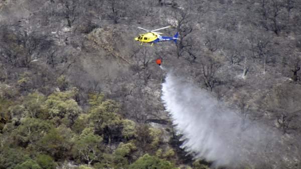 Incendio en el Parque Nacional de Cabañeros