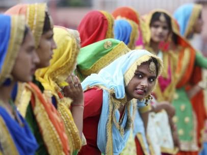 Mujeres hindúes.